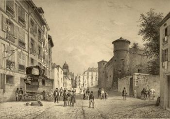 Vista del Castillo Viejo, en Baiona.