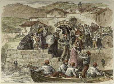 Guerra civil en España: los habitantes de Getaria huyen con sus pertenencias