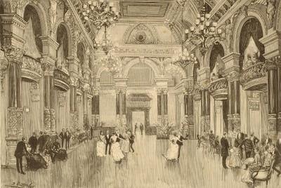 """San Sebastián : el salón de fiestas del """"Gran Casino"""", inaugurado en la noche del 1º de julio"""