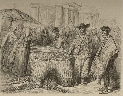 Caseros con sus cuévanos de mimbre (San Sebastián)