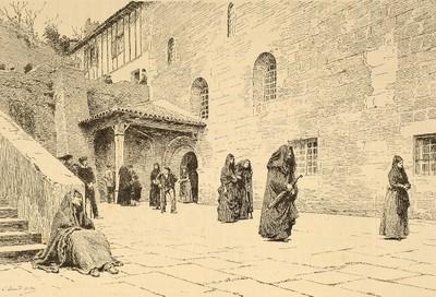 """Salón de París, de 1887"" : ""la salida de misa, en Ziburu"" (País Vasco)"