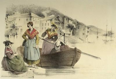 Trajes vascos (españoles): barqueras de Pasaia