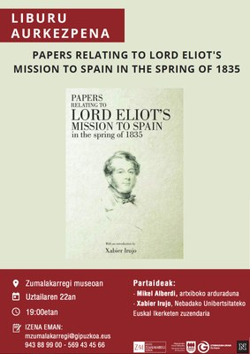 """""""Papers Relating to Lord Eliot's Mission to Spain in the Spring of 1835"""" liburuaren aurkezpena"""