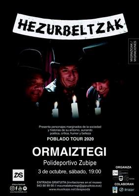 Cartel del concierto Hezurbeltzak 03.10.2020