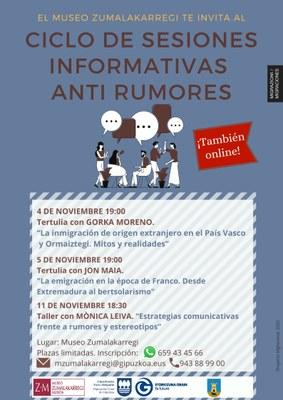 Ciclo de sesiones informativas anti rumores