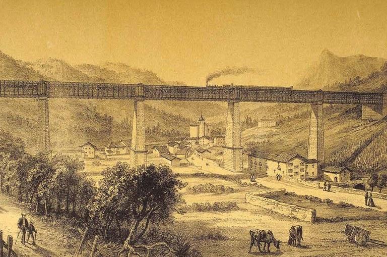 """SPRENGER, Rodolfo. """"Vista de Ormaiztegi"""". 1870"""