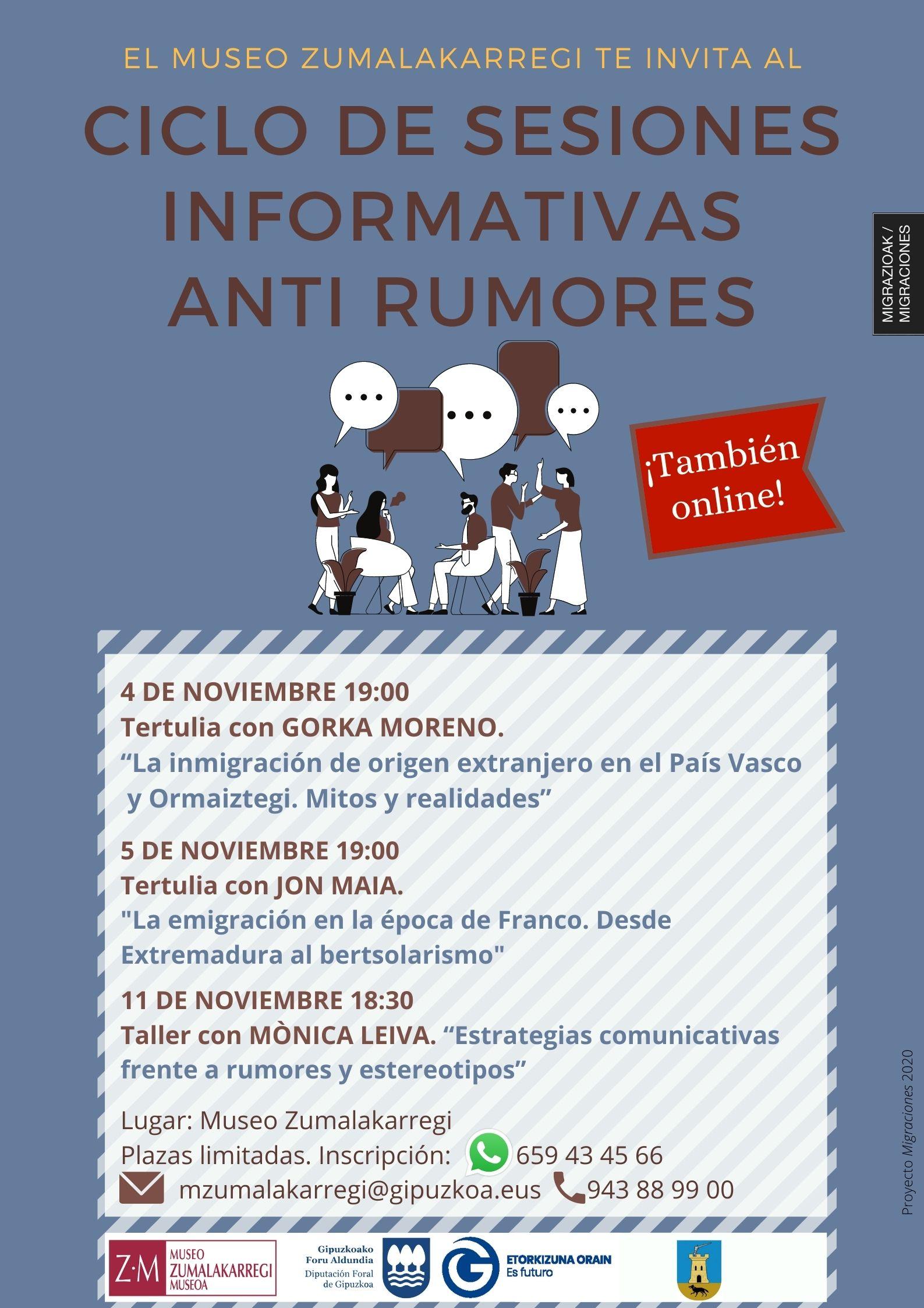 Sesiones informativas anti rumores.