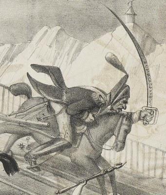 """Zumalacárregui en la revista """"La Caricature"""""""