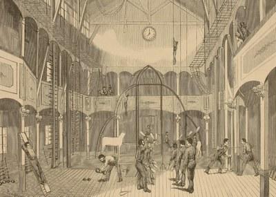 Un gimnasio en Bilbao en 1875