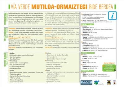´Folleto Vía verde Mutiloa-Ormaiztegi