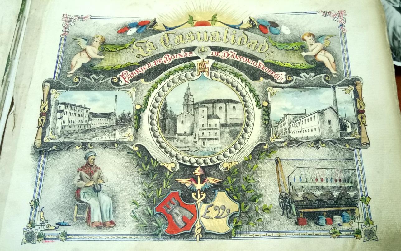 Fábrica de boinas de D. Antonio Elosegui. Libro de firmas. Tolosa cbd226469b1