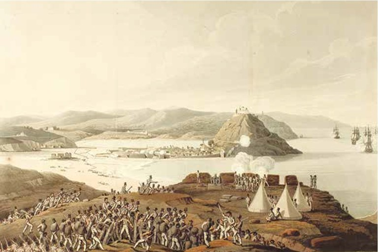 "ORME, Edward. ""Storming the town & castle of St. Sebastian in Spain, sepr. 1813"". 1813"