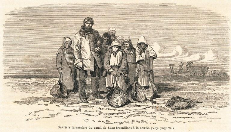ZM. Une Excursion au canal de Suez. Le Tour du Monde. Par M. Paul Merruau. 1862