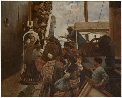 """""""Migrazioak"""" proiektua martxan Zumalakarregi Museoan."""
