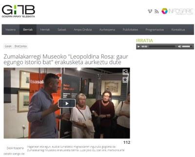 """Telebista erreportaia """"Leopoldina Rosa: gaur egungo istorio bat"""""""