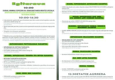 """""""Arrastoak"""" 2011 Ormaiztegi. Programa"""