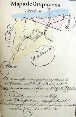Gipuzkoako Mapa 1821