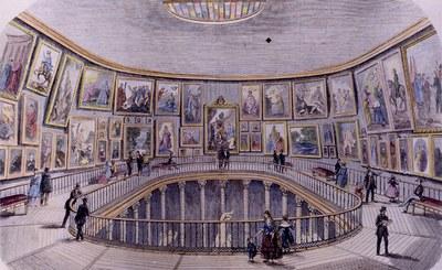 Prado museoaren errotonda 1850