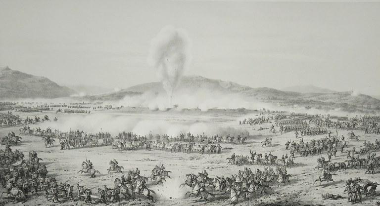 """J.VELASCO y J. VALLEJO. """"Batalla de Tetuán el 4 de febrero de 1860.""""  1861."""