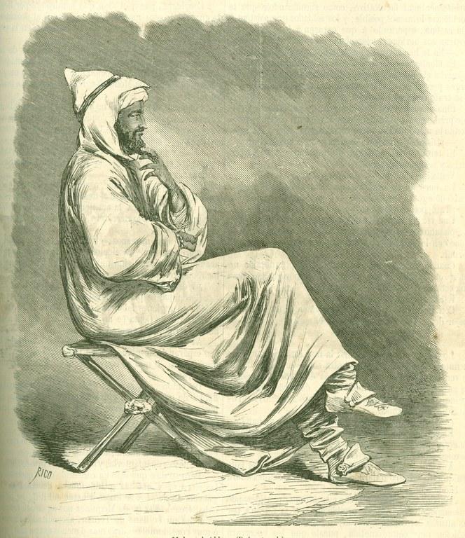 Afrikako gerra. Muley El Abbas,  sultanaren anaia  eta marokoarren  buruzagi militar  nagusia.