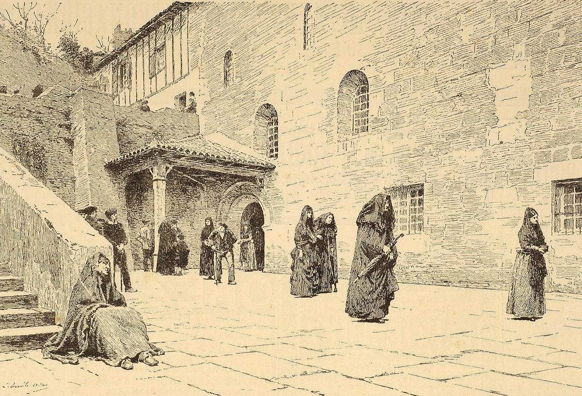 """Parisko Aretoa, 1887koa: """"Mezatik irteten, Ziburun"""""""