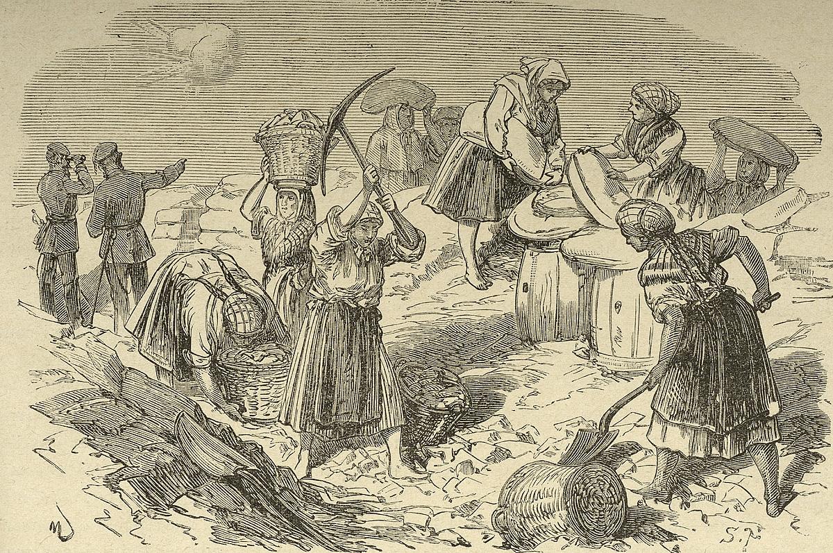 Emakumeek berek adoretzen zituzten boluntarioak etsenplua emanez