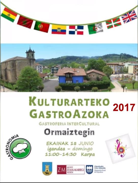 Ormaiztegiko Kulturarteko GastroAzoka 2017