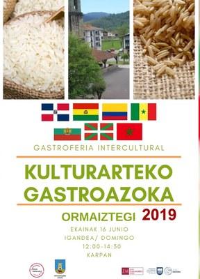 Ormaiztegiko kulturarteko-gastroazokaren III edizioa