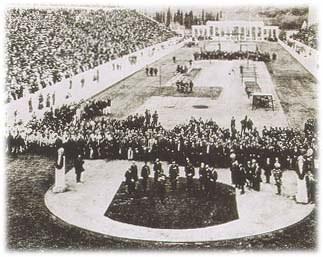 1896ko olinpiar jokoen inaugurazio ekitaldia