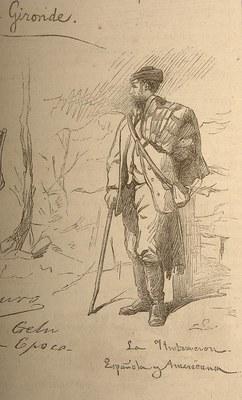 Josep Lluis Pellicer Fenyé, prentsa korresponsala Bigarren Karlistadan