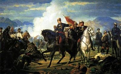 Dionisio FIERROS. Batalla de Tetuán (1894). Colección particular.