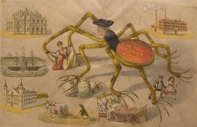 La araña negra apoderándose poco a poco de España.
